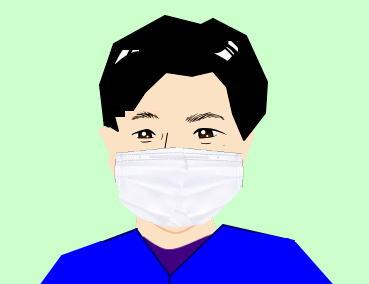 マスクをしている院長田村
